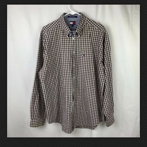 Mens Tommy Hilfiger Button Front Checkered Shirt